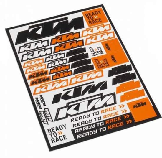 Zestaw naklejek KTM Logo Sticker Sheet